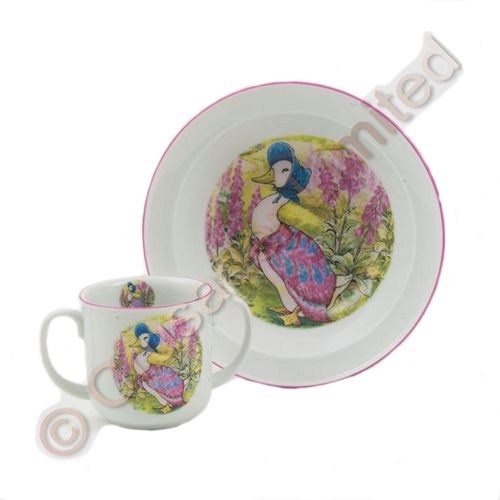 Beatrix Potter Jemima Puddle-duck Baby Set Mug & Bowl