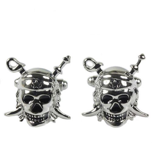Pirate Skull with Crossed Swords Cufflinks