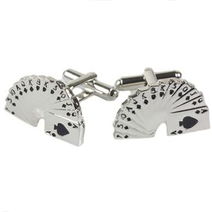 Playing Card Cufflinks - Hand of Cards