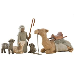 Willow Tree Nativity Shepherd & Stable Animals Set