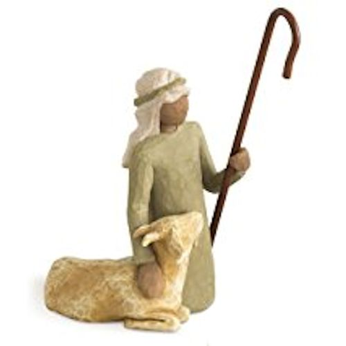 Willow Tree Shepherd And Stable Animals Figurine Set 26105