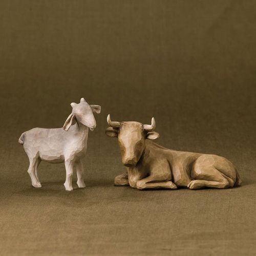 Willow Tree Nativity Ox And Goat Figurine Set 26180