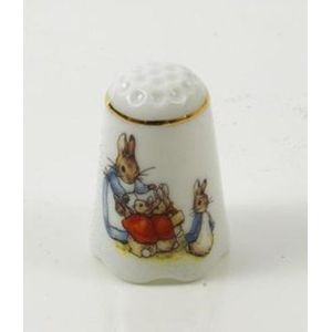 Beatrix Potter Mrs Rabbit & Bunnies Thimble