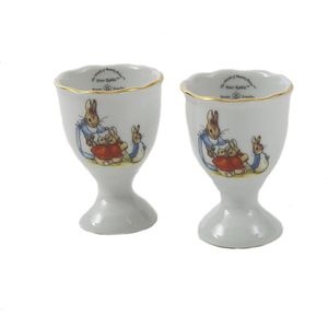 Mrs Rabbit & Bunnies set of 2 egg cups