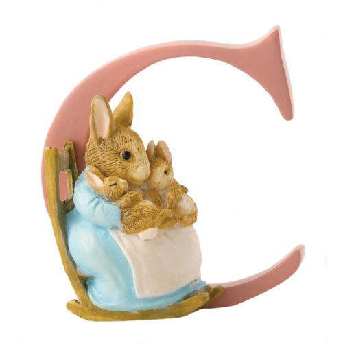 Beatrix Potter Letter C - Mrs Rabbit & Bunnies Figurine