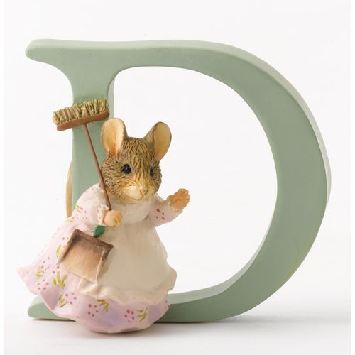 Beatrix Potter Letter D - Hunca Munca Sweeping Figurine