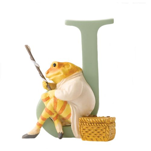 Beatrix Potter Letter J - Mr. Jeremy Fisher Figurine