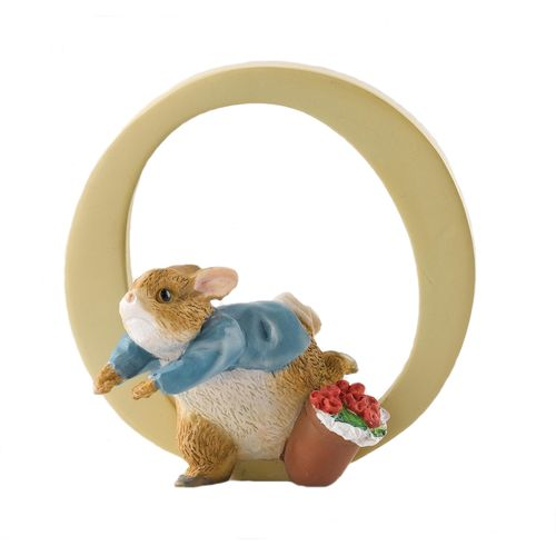 Beatrix Potter Letter O - Peter Rabbit Figurine