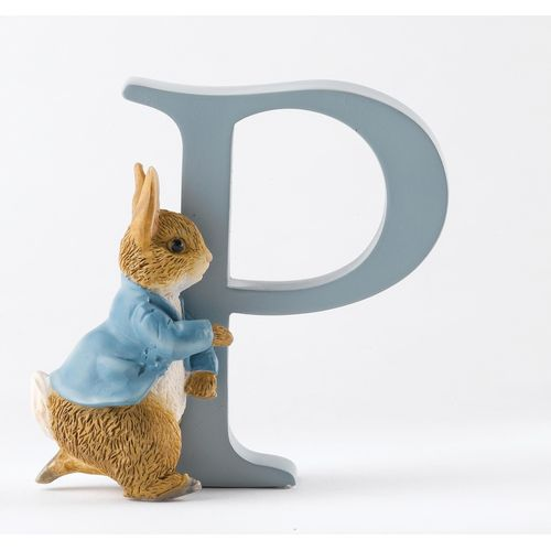 Beatrix Potter Letter P - Running Peter Rabbit Figurine