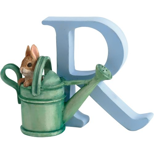 Beatrix Potter Letter R - Peter Rabbit In Watering Can Figurine
