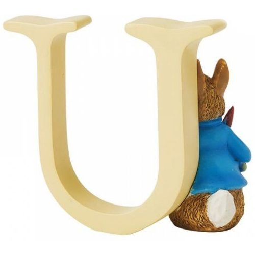 Beatrix Potter Letter U - Peter Rabbit With Radishes Figurine