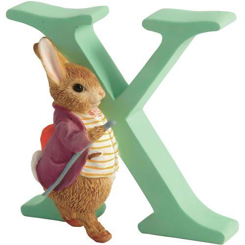 Beatrix Potter Letter X - Old Mr. Benjamin Bunny Figurine
