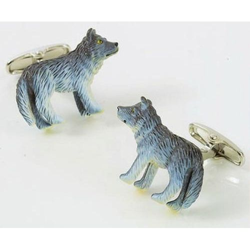 Grey Wolf animal Cufflinks