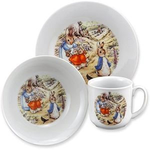 Beatrix Potter Peter Rabbit 3 Piece Breakfast Set