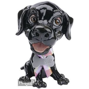 Little Paws Jet Black Labrador Dog Figurine