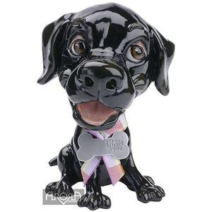 Little Paws Jet the Black Labrador Dog Figurine