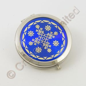 Compact Mirror Blue Background