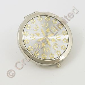 Compact Mirror Silver and gold design