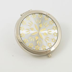 Compact Mirror - Silver & Gold Pattern