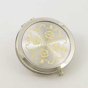 Compact Mirror (Silver & Gold Pattern)