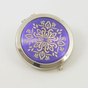 Compact Mirror (Purple & Gold Pattern)