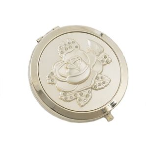 Compact Mirror - Rose Pattern
