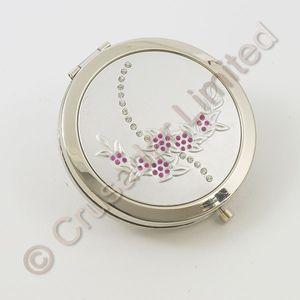 Compact Mirror Floral diamante design