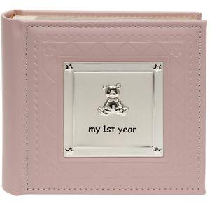My 1st Year Photo Album - Baby Girl (Pink)