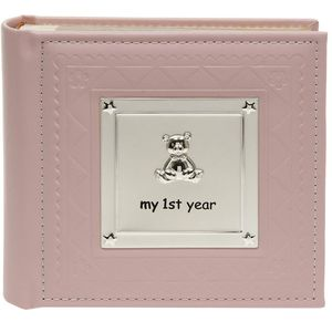 My 1st Year Pink Baby Photo Album
