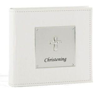 "Christening Photo Album Holds 100 4"" x 6"" Photos"