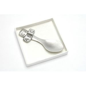 English Pewter Decorative Spoon - ABC Blocks