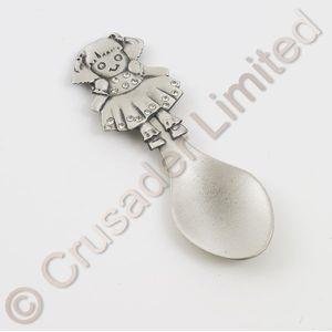 Rag Doll pewter decorative spoon