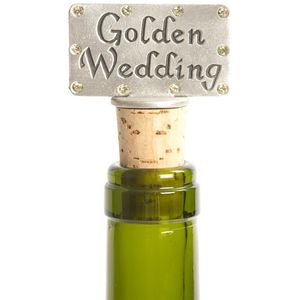 Golden Wedding Bottle stopper