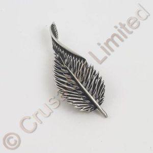 English Pewter Brooch - Leaf
