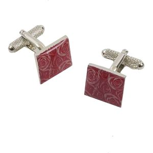 Rose Patterned Cufflinks