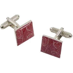 Rose Patterned Dress Cufflinks