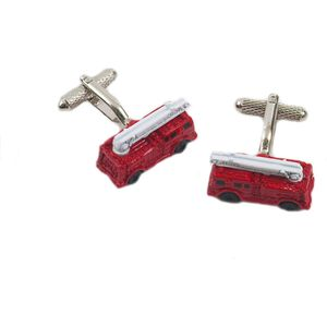 Red Fire Engine Novelty Cufflinks