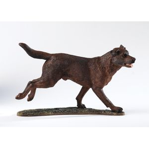 Border Fine Arts Studio Collection Figurine - Chocolate Labrador Retriever Dog