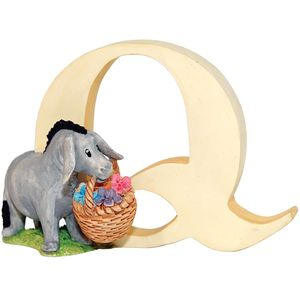 Winnie The Pooh Alphabet Letter Q - Eeyore With Basket