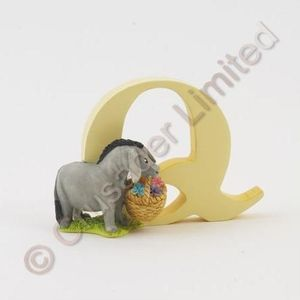 Winnie The Pooh Letter Q - Eeyore With Basket