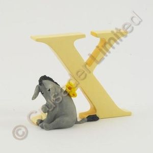 Winnie The Pooh Letter X - Eeyore With Butterfly