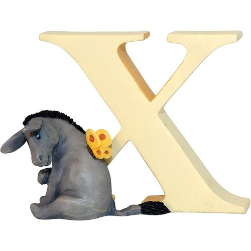 Winnie The Pooh Alphabet Letter X - Eeyore With Butterfly