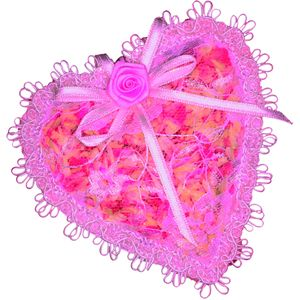 Personalised Candle with Pink lace Heart design