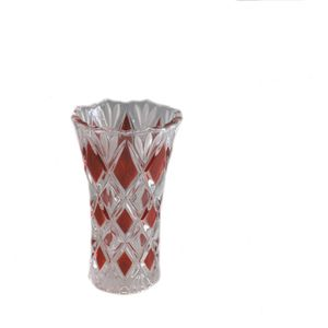 Walther Glass Ruby Saturn Vase