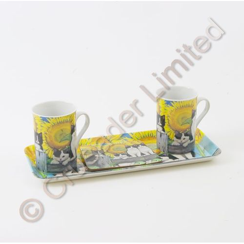 Gleneagles Fine China Furry Friends Cats Tea for Two Gift Set Ref. 2108