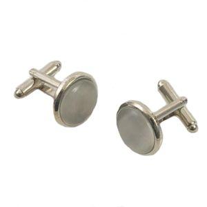 Pearly Grey Cufflinks