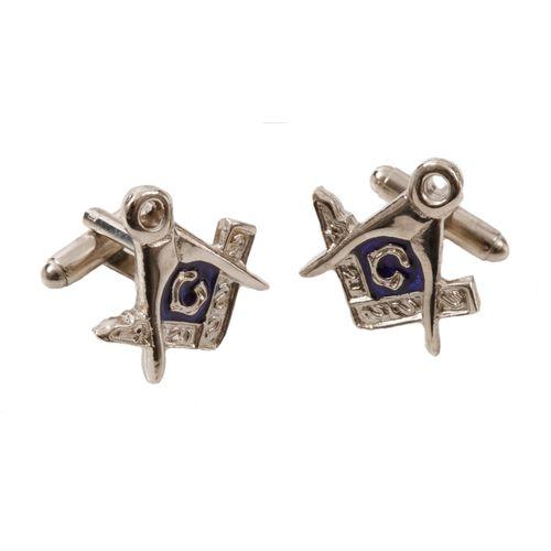 English Pewter Masonic Cufflinks
