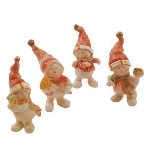 Christmas Decoration - Snowman Figurines Set of 4 Assorted