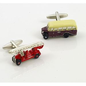 Bedford Bus & Vintage Fire Engine Cufflinks