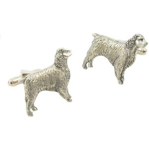 English Pewter Springer Spaniel Cufflinks